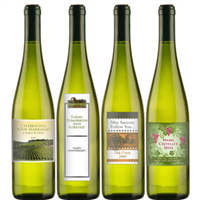 White Wine with Personalized Labels