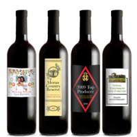 Red Wine with Personalized Labels