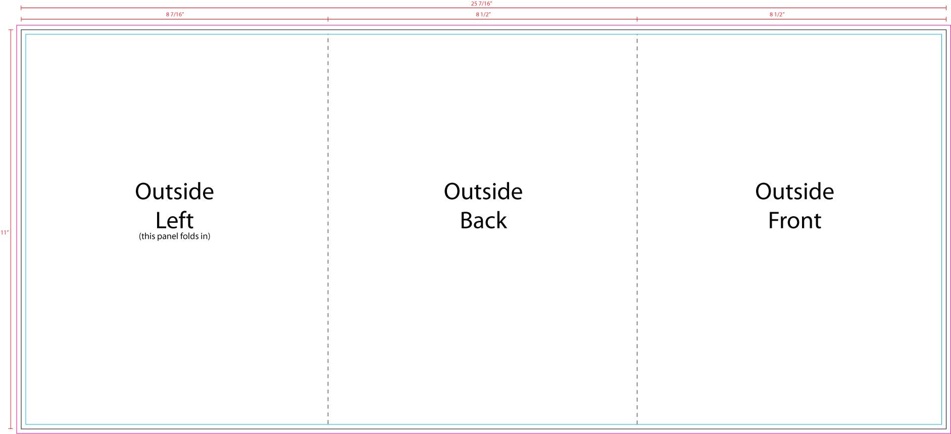 US Press Templates 11 X 25.5 Tri-Fold Outside