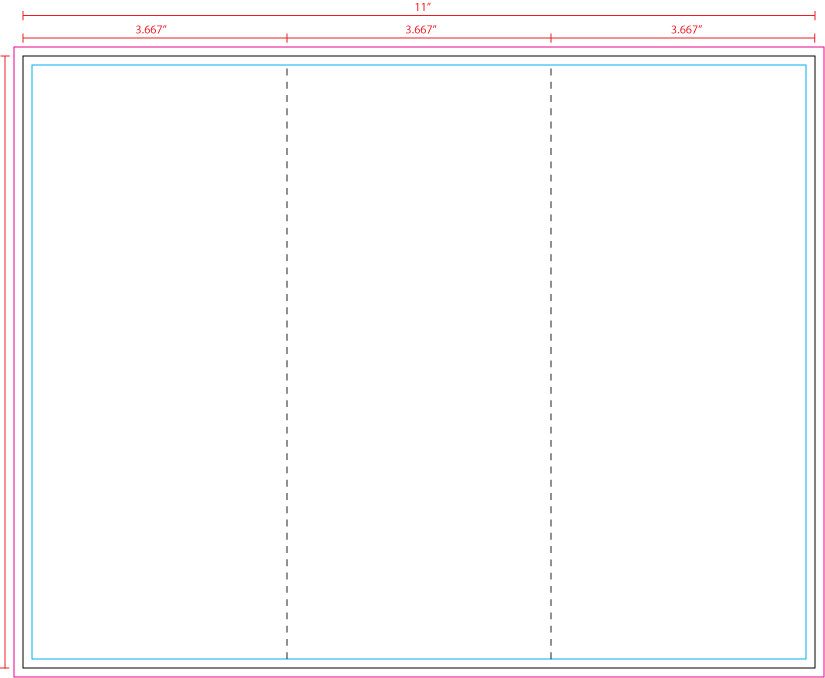 Us press templates 11 x 8 5 z fold for 8 5 x11 brochure template