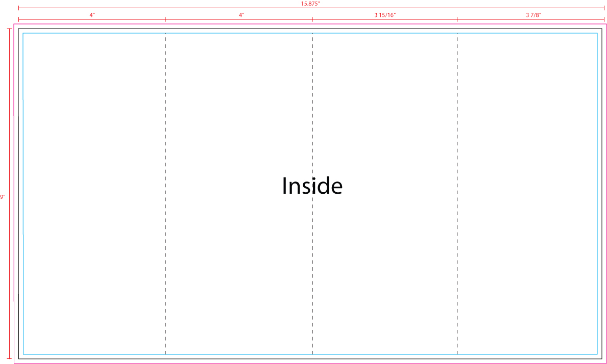 Us press templates 16 x 9 barrel fold inside for Barrell fold