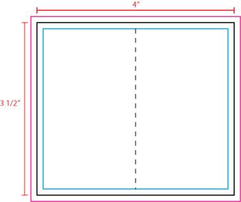 US Press Templates 4 X 3.5 Fold Over Business Card Portrait