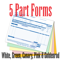 5 Part Carbonless Forms