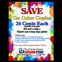 24 Cent Color copies