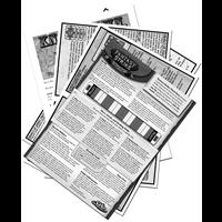 Black & White Card Game Rules Sheet