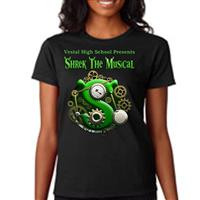 Women's Custom T-Shirts - Back & Pocket Design